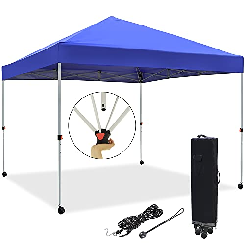 Blissun 10' x 10' Pop Up Canopy Tent, Instant Shelter Canopy, Outdoor...