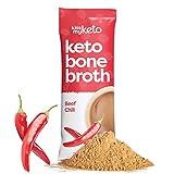 Kiss My Keto Beef Bone Broth Powder Travel Packets — Collagen Protein (9g) + MCT Oil (1.5g), 18...