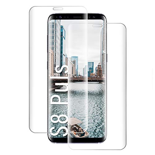Shalwinn Schutzfolie 2 Stück für Samsung Galaxy S8 Plus, Hohe Qualität Panzerfolie HD Klar Panzerglasfolie, 9H Härte, Anti-Fingerabdruck, Anti-Kratzen Blasenfrei Panzerglas folie Displayschutzfolie
