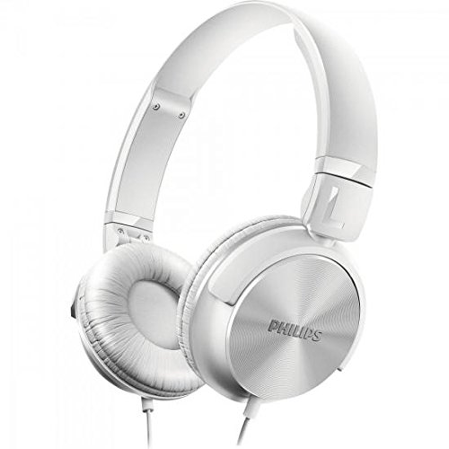 Philips SHL3060WT Casque audio pliable à plat, Conception fermée, Câble 1,2m, Blanc