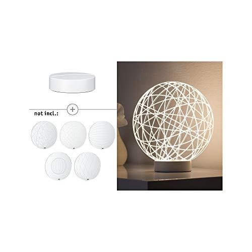 Paulmann 795.35 3D Basic Sockel für Tischleuchte Aluminium Weiߟ Matt 79535 Dekolicht indirekte Beleuchtung Stimmungslicht Nachtlicht