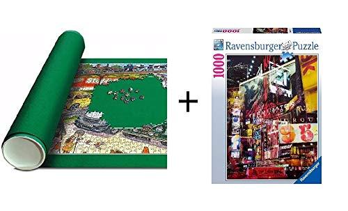 Promohobby Pack tapete para Guardar Puzzles (hasta 5000 Piezas) + Puzzle Ravensburger Nueva York 1000 Piezas