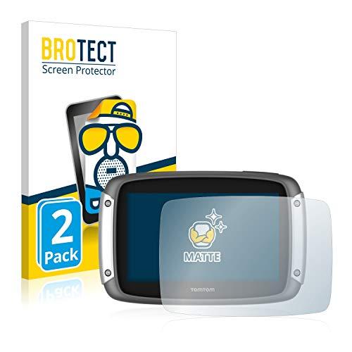 BROTECT 2X Entspiegelungs-Schutzfolie kompatibel mit Tomtom Rider 400 Bildschirmschutz-Folie Matt, Anti-Reflex, Anti-Fingerprint