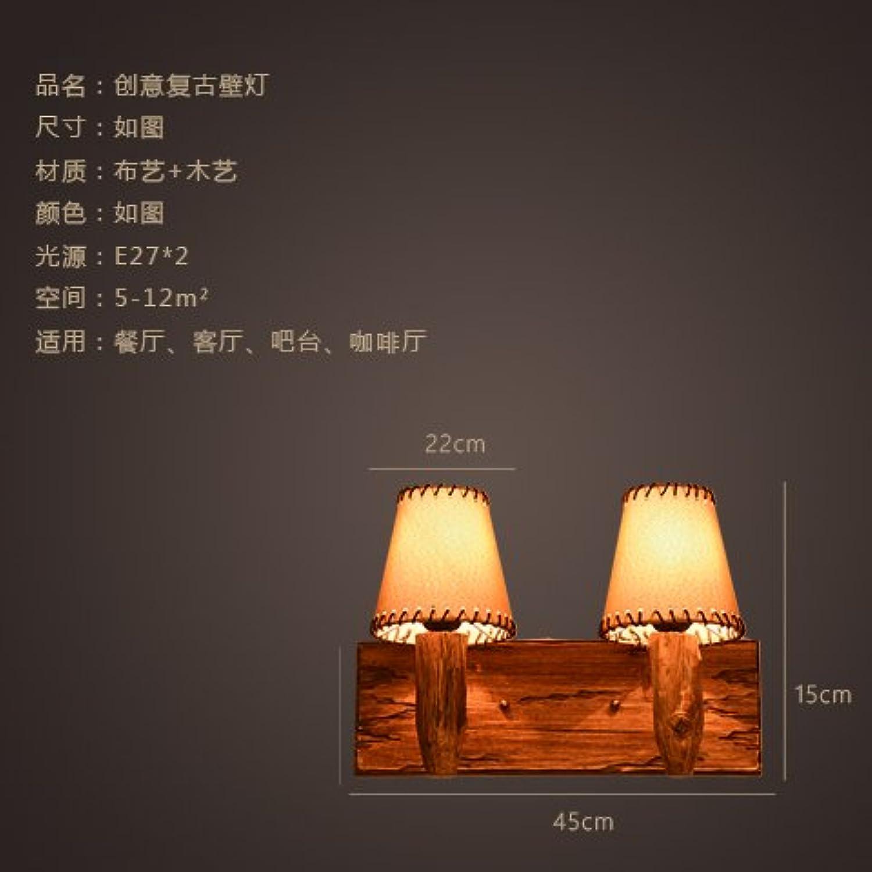 StiefelU LED Wandleuchte nach oben und unten Wandleuchten Retro loft Holz- Gewebe der bed Wandleuchte antiken hlzernen Stiefel bar Cafe Wandleuchten, Dual Head