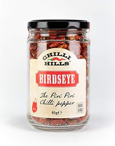 Chilli Hills chiles deshidratados OJO DE PÁJARO. Los mejores chiles y los más picantes, cultivados en nuestro huerto familiar y deshidratados a conciencia para conservar su sabor. 45 gramos