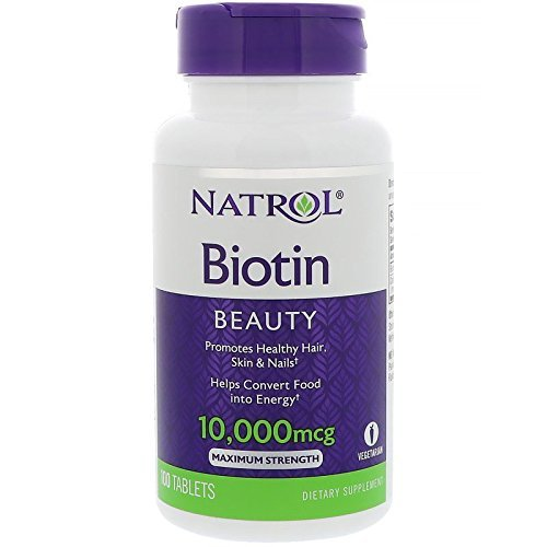 Natrol Biotin Beauty Tablets, Promotes Healthy Hair, Skin and Nails, Helps Support Energy...