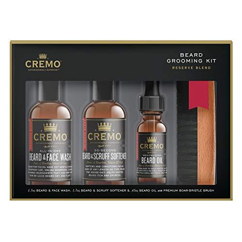 Cremo Reserve Beard, 4-Piece Beard Grooming Kit