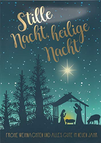 Weihnachtskarte A5 mit Musik