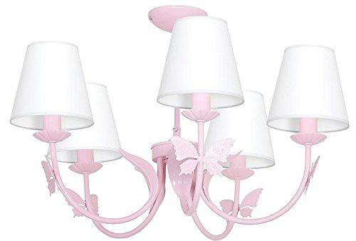 MINI MOTYL V/Papillon ROSE CLAIR Lámparas de arana de techo cuarto de...