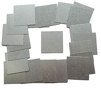 25 placas cuadradas de acero galvanizado de 45 mm de 0,5 mm de grosor y 45 mm de grosor para fijaciones, manualidades, talleres, chapas de metal
