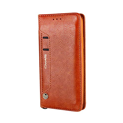 TechCode Galaxy S8 Cover with Card Slot, Vintage Dual Layer Design Wallet Folding Flip Case with Card Holder Magnetic Smart Protective Cover for Samsung Galaxy S8 5.8 inch(Brown)