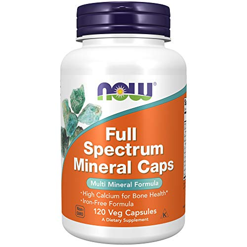 NOW Supplements, Full Spectrum Mineral Caps, Multi Mineral Formula, 120 Veg Capsules