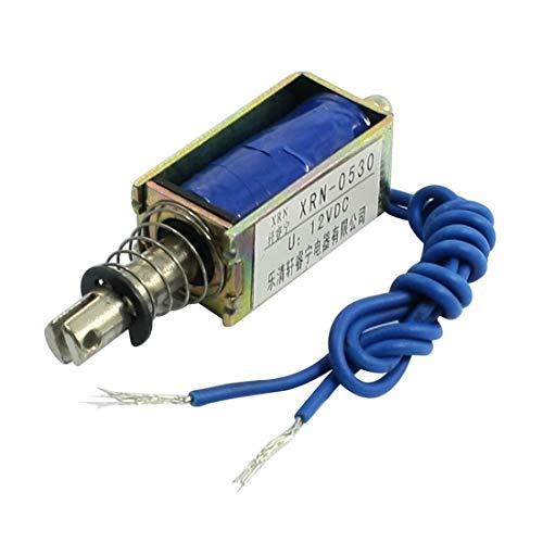 REFURBISHHOUSE Electro-aimant solenoide electrique type pousser/tirer 10mm DC 12V 2.1Kg Force