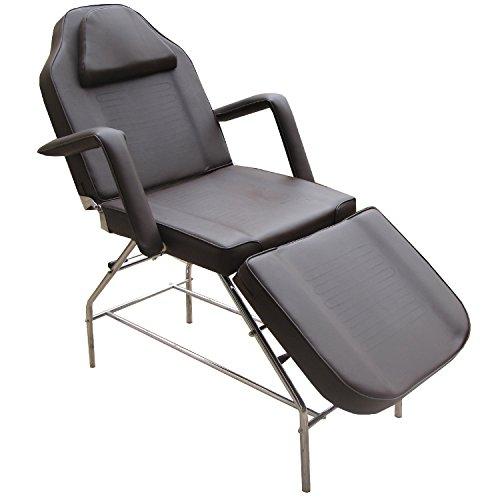 eyepower 3-Zonen Kosmetikstuhl Massagestuhl Massageliege Behandlungsstuhl (Braun)
