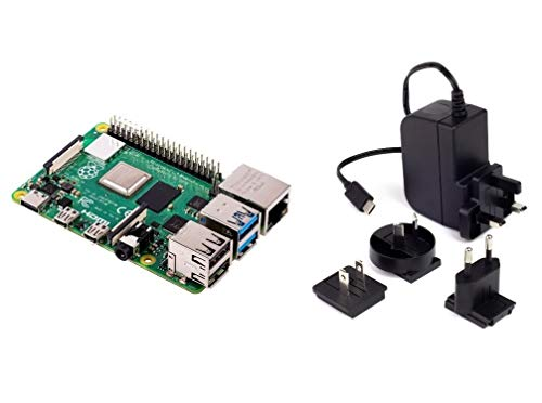 Raspberry Pi 4 Model B 2GB RAM with 5.1V 3A USB-C Multinational Power Supply Unidad de Fuente de alimentación
