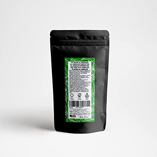 Té Verde. Al-Ándalus. Blend. Sabor a Naranja. Con Té verde, membrillo, naranja, flor de jazmín y azahar. Antioxidante. Diurético. 100 gramos