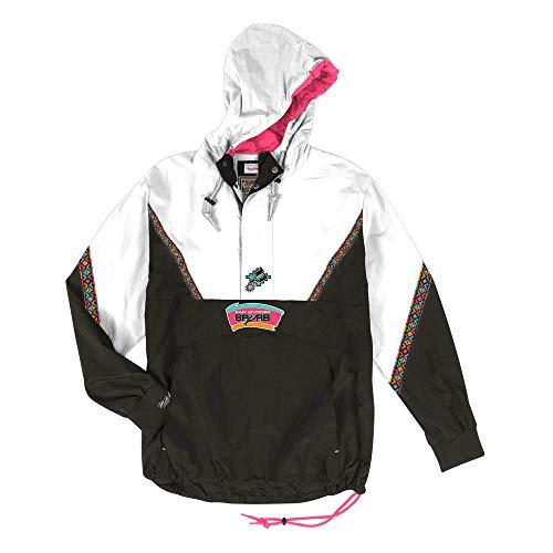 Mitchell & Ness San Antonio Spurs NBA Mens Patterned Anorak Half Zip Jacket
