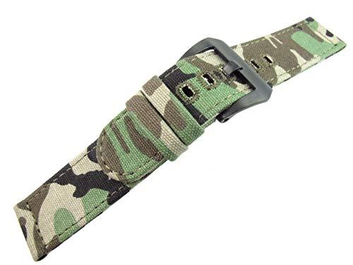 26mm Camuflaje Lienzo Correa Banda Deportes ejército Pulsera Militares Reloj Partes