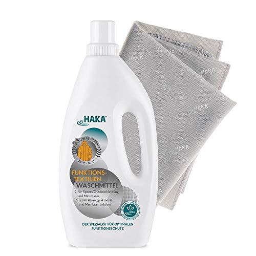 HAKA Set Sportwäsche ultrafrisch I 1 Set (Waschmittel + Tuch)