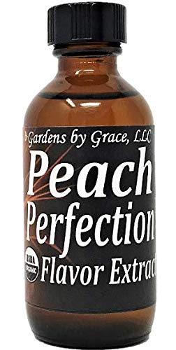 Organic Flavor Extract Peach | Use in Gourmet Snacks, Candy, Beverages, Baking, Ice Cream, Frosting, Syrup and More | GMO-Free, Vegan, Gluten-Free, 2 oz