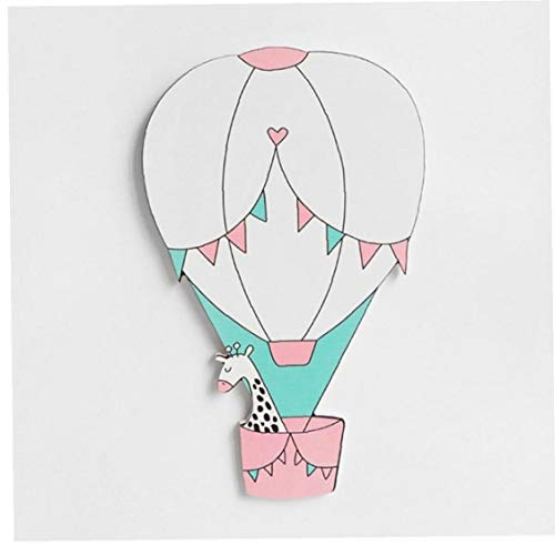 3d Wooden Hot Air Balloon Wall Stickers Nordic Newborn Baby Bedroom Diy Craft Decoration Photo Props (random Style)