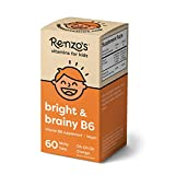 Renzo's Bright & Brainy B6, Dissolvable Vegan Vitamins for Kids, Zero Sugar, Oh-Oh-Oh Orange Flavor,...