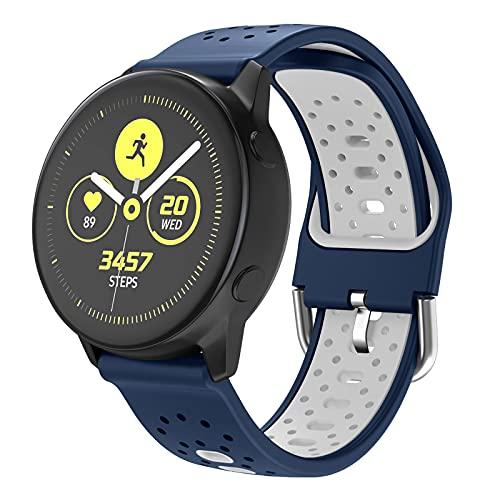 ISABAKE 20mm Correa de Reloj para Galaxy Watch 42mm/Vivoactive 3/Galaxy Active 2/Forerunner 245/Vivomove HR/Forerunner 645/Forerunner 645