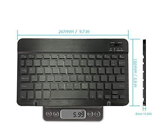 Alician 10.1 inch Bluetooth toetsenbord met 7kleuren achtergrondverlichting voor iPad Tablet toetsenbord