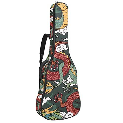 Funda para Guitarra Eléctrica Dragon Chino Bolsa Guitarra Acolchada 6mm Tela Oxford...
