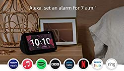 """Compact 5.5"""" smart display with Alexa, ready to help. Voice or video call friends and family with compatible Echo devices or the Alexa app. Manage calendar, make to-do lists, get weather and traffic updates and cook with step-by-step recipes. Watch f..."""