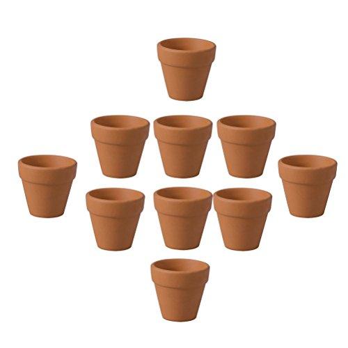 OUNONA 12pcs Mini Terracotta Pot Clay Pottery Planter Cactus Flower Pots Succulent Nursery Pots 3 x 3cm