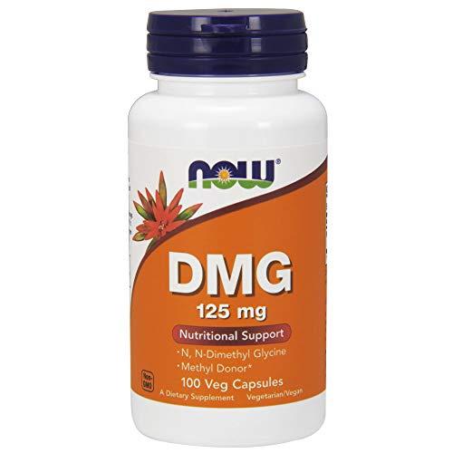 Now Foods, DMG, 125 mg, 100 vegetarische Kapseln, sojafrei, glutenfrei