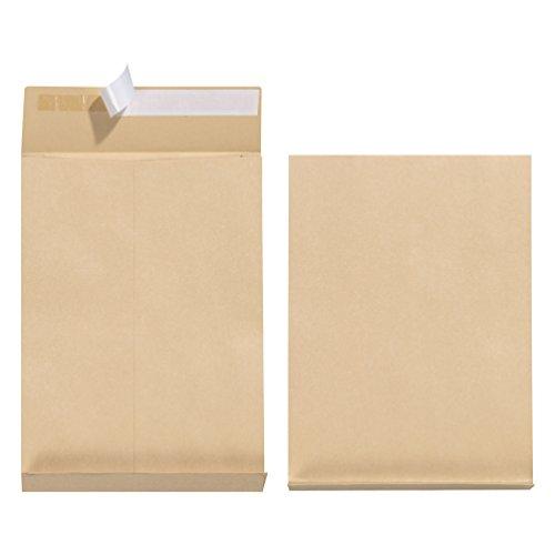Herlitz Faltentasche B4 130 g Haftklebend, Falte 4 cm, 5-er Packung, eingeschweißt, braun