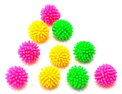 10 X Mini Stressball mit Noppen für zwischendurch Massageball 2 CM by schenkfix