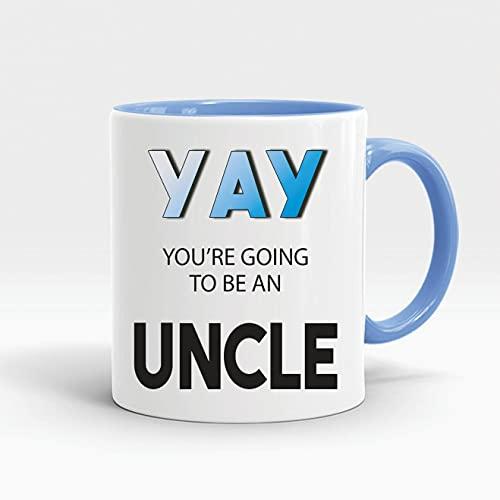 DKISEE Embarazo Anuncio Regalos Café Tazas De Café Yay You'Re Going To Be An Uncle Nuevo Bebé Sobrino Sorpresa Hermano Embarazada Esperando Tazas M285