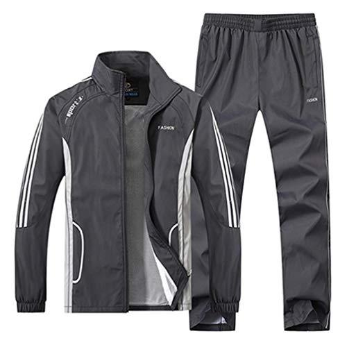 Los hombres de la ropa deportiva chaqueta + pantalones dos traje chaquetas de baloncesto entrenamiento pista traje de trote trajes de hombres