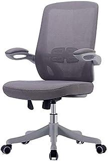 CHAIR Silla Escritorios y sillas para el hogar, sillas de estudio ajustables en altura en dormitorios de estudiantes, adecuadas para conferencias y sillas de oficina de recepción,gris