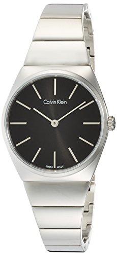 Calvin Klein Damen Analog Quarz Uhr mit Edelstahl Armband K6C2X141