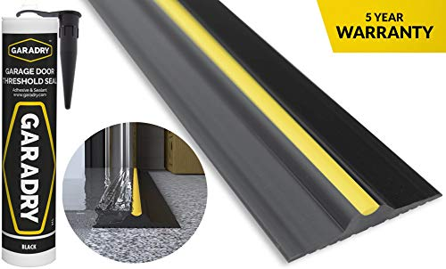 "Garadry ½"" High Garage Door Threshold Seal Kit (10'3"") 