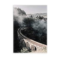 3デスクのセットポスタープレミアムポスターセット、リビングルームのためのフレームデコの霧,1