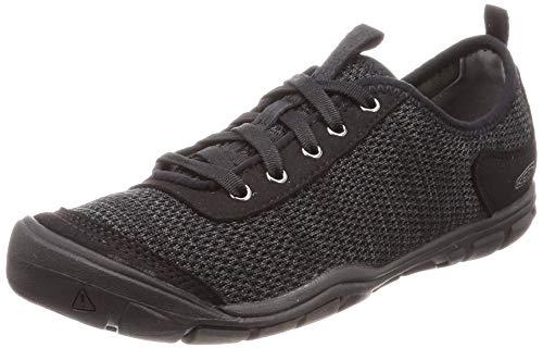 KEEN Women's Hush Knit CNX Hiking Shoe, Black/Raven, 8.5 M US