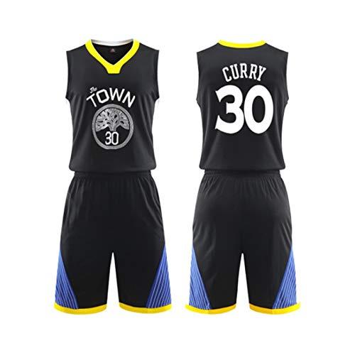 QING YUAN Camiseta de Guerrero para Hombre, Conjunto de Uniforme de Baloncesto Stephen Curry # 30, Camiseta de Swingman de Baloncesto Bordada Transpirable