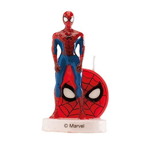 Dekora - 346205 SPIDERMAN Bougie Figurine 3D, Cire, Multicolore, 5 x 2 x 8 cm