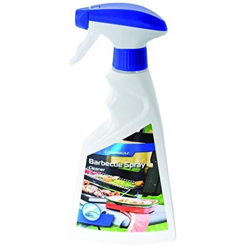 Campingaz detergente per acciaio inox per griglia e plancha, bottiglietta spray da 500 ml, per pulizia della griglia, adatto a ogni superficie in acciaio inox, elimina grasso e impronte digitali