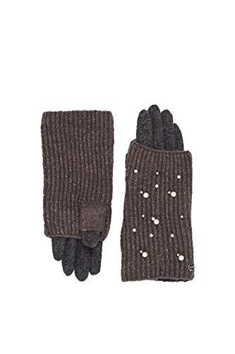 ESPRIT Accessoires Damen 129EA1R001 Handschuhe, Grau (Grey 030), Small (Herstellergröße: S)