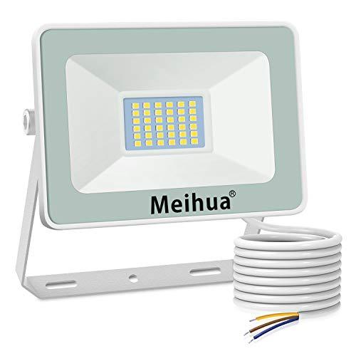 MEIHUA 25W LED Strahler Außen, Superhell Scheinwerfer LED Flutlicht im Freien 2500LM Kaltweiß 6500K IP66 Wasserdichtes LED-Flutlicht Wandleuchten für Hotel, Sportplatz, Garage, Garten, Hof, Terrasse