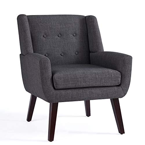HUIMO Upholstered linen Fabric Armchair