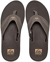 Reef Men's Sandals Fanning | Bottle Opener Flip Flops for Men with Arch Support | Brown/Gum | Size 12