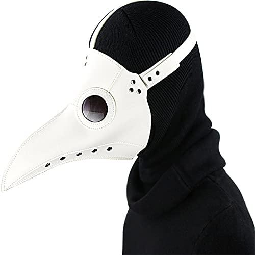 abbybubble Maschera per Uccelli Divertente Medievale Steampunk Peste Dottore Maschera per Uccelli Punk Maschere Cosplay Becco Adulto Evento di Halloween Puntelli Cosplay