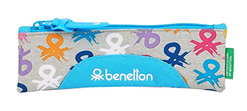Safta Estuche Escolar de Benetton, Multicolor (Benetton Logo)